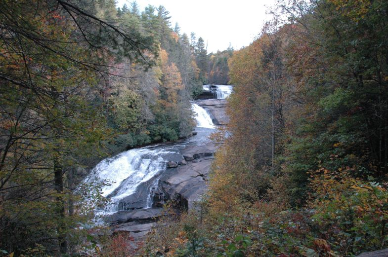 Triple Falls from Overlook - October 2013