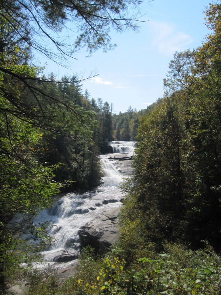 Triple Falls from Downstream Overlook - October 2012